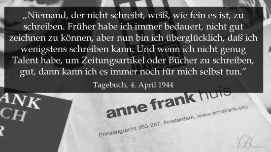Anne Frank, ihr Tagebuch und ich - Zitat 1